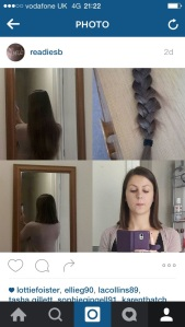 9 inch plait, donated to Little Princess Trust